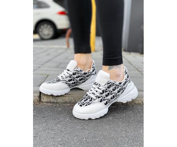 Жіночі кросівки dior white 32-1.