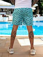 Чоловічі пляжні шорти зі вставками Бірюзовий