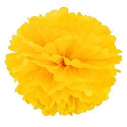 Декор бумажные Помпоны 25см (желтый 0019) 586684688