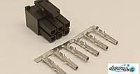 Разъем/коннектор 6 контактный Mini-Fit розетка + контакты,для питания PC под обжимку.Коннектор Molex 2x3Pin