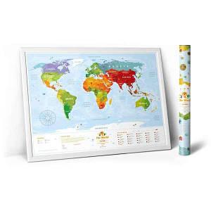 Скретч картины и карты мира