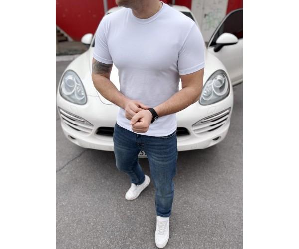 Мужская футболка  white12-2+
