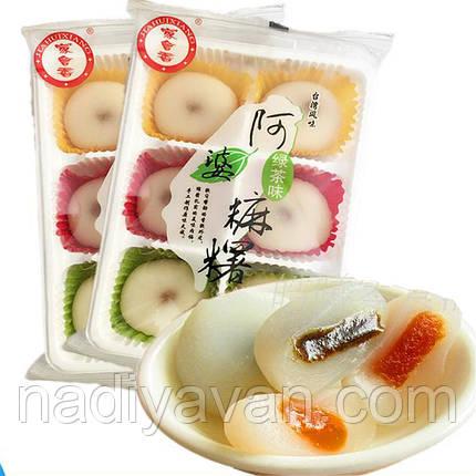 Mochi рисовий десерт з начинкою зелений чай 200г, фото 2