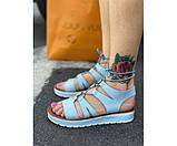 Женские сандали spartak blue 32-1., фото 2