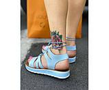 Женские сандали spartak blue 32-1., фото 3