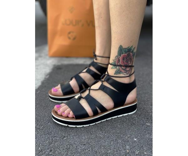 Жіночі сандалі spartak black 15-2.