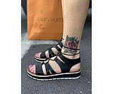 Жіночі сандалі spartak black 15-2., фото 2