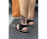 Жіночі сандалі spartak black 15-2., фото 3