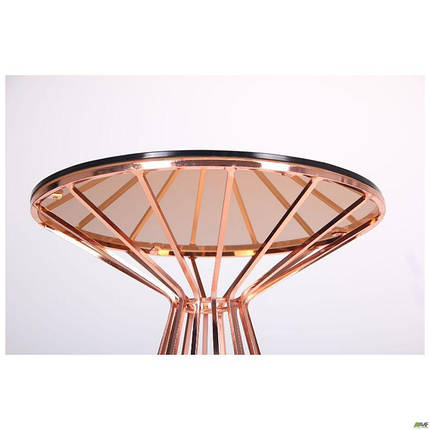 Стол Canary, rose gold, glass top, фото 2
