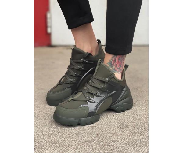 Жіночі кросівки dior green 34-1