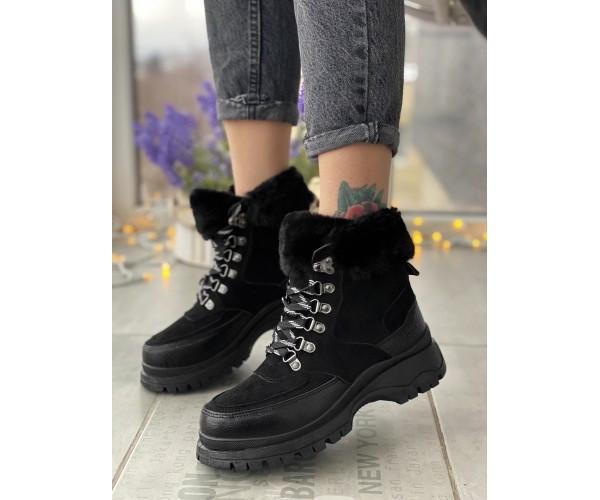 Жіночі черевики tundra black 17-3+