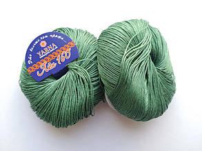 Пряжа Лен 160 Ярна Италия цвет 50/160 травы прованса