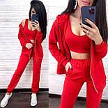 Костюм женский тройка: топ, кофта-худи и штаны (в расцветках), фото 3