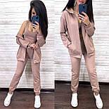 Костюм женский тройка: топ, кофта-худи и штаны (в расцветках), фото 7