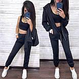 Костюм женский тройка: топ, кофта-худи и штаны (в расцветках), фото 9