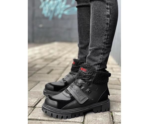 Жіночі черевики sport black 30-0+