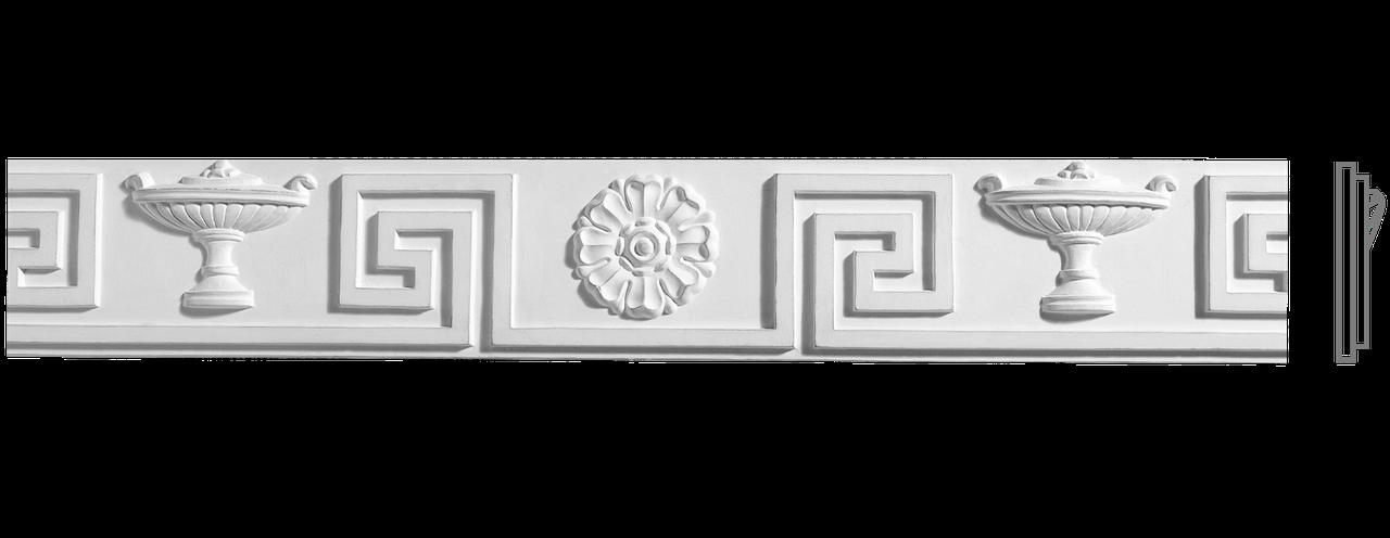 Декоративний фриз з гіпсу, гіпсовий фриз з орнаментом Ф-31 h88 мм
