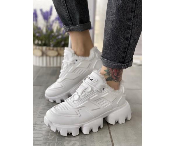 Жіночі кросівки prada white mex 32-3