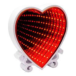 Світильник Нескінченність Серце (червоний)
