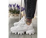 Жіночі кросівки prada white mex 32-3, фото 2