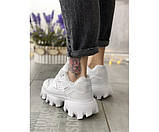 Жіночі кросівки prada white mex 32-3, фото 3