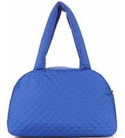 Сумка женская стёганая POOLPARTY Eco синяя