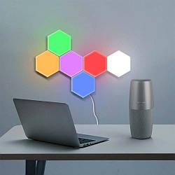 Модульний LED світильник сенсорний СТІЛЬНИКИ (набір 6шт) з адаптером (різнокольоровий)