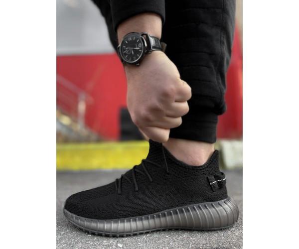Кросівки yezy black 23-2