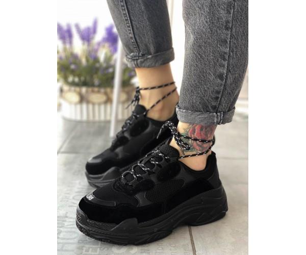 Жіночі кросівки triple black summer 20-3+