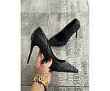 Женские туфли botega black 20-2+, фото 2