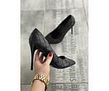 Жіночі туфлі botega black 20-2+, фото 3
