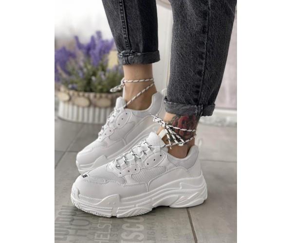 Жіночі кросівки triple white 19-1