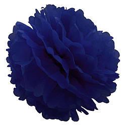 Декор бумажные Помпоны 20см (синий 0002) 979812569