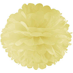 Декор бумажные Помпоны 20см (шампань 0017) 979812570