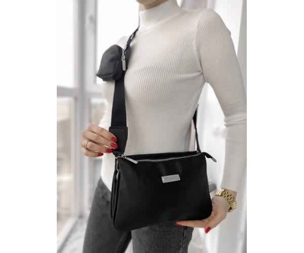Женская сумка trio black  17-2+