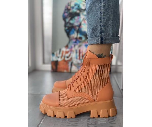 Жіночі черевики Lena orange 17-3+