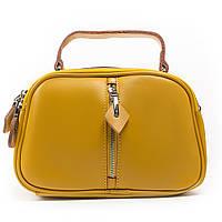 Желтая женская сумка через плечо кросс-боди кожа А. Rai классическая сумочка из натуральной кожи, фото 1