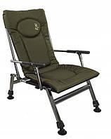 Кресло карповое Elektrostatyk F8R с подлокотниками и фиксированной спинкой