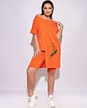 Женский летний костюм с бриджами Двунитка турецкая Размер 50 52 54 56 58 60 62 64, фото 7