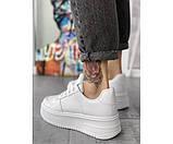Жіночі кросівки force up white 25-1, фото 3