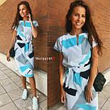 Платье с поясом с геометрическим принтом, фото 2