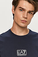 Мужская футболка EA7 Emporio Armani, темно-синяя армани, фото 1