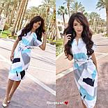 Платье с поясом с геометрическим принтом, фото 6