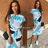 Платье с поясом с геометрическим принтом, фото 5