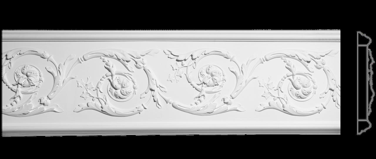 Декоративный фриз из гипса, гипсовый фриз с орнаментом Ф-85 h334 мм