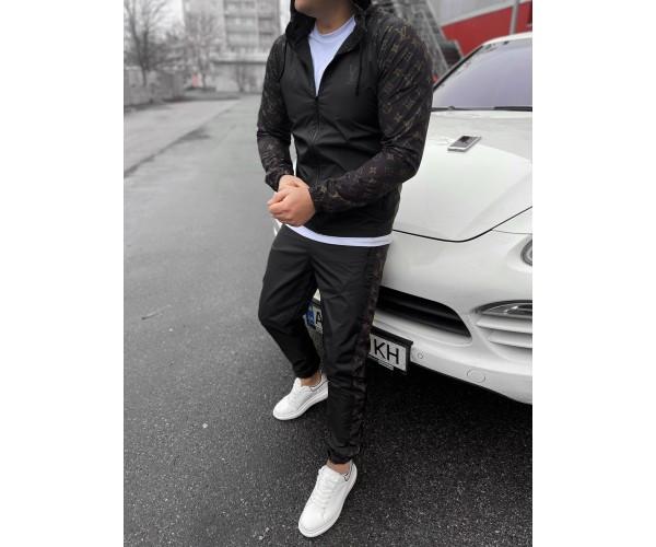 Спортивный костюм  LV black/grey