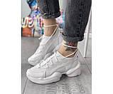 Жіночі кросівки dior pagini white 24-0, фото 2