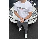 Мужская футболка  balanciaga white, фото 2