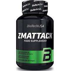 BioTech (USA) ZM Attack, Цинк, Магний, Витамин B-6 (60 капс.)