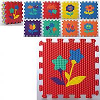 Детский коврик мозаика Цветы MR 0359 из 9 элементов